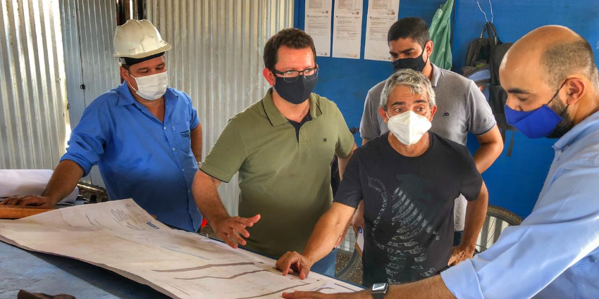 Técnicos da Caixa Econômica Federal visitam obras em Redenção