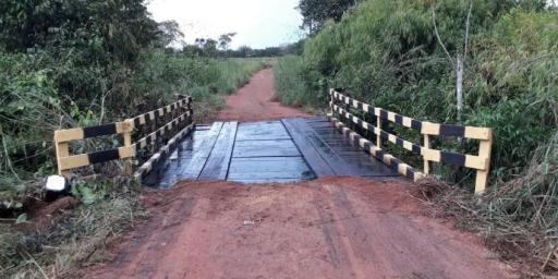 Prefeitura reforma pontes nas colônias Inajá e Arraiaporã