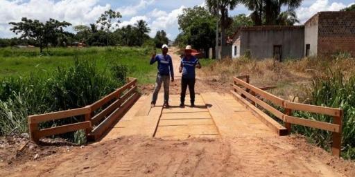 Ponte é restaurada no Jardim Cumaru