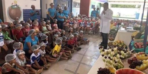 Prefeitura realiza projeto Alimentação Saudável nas escolas