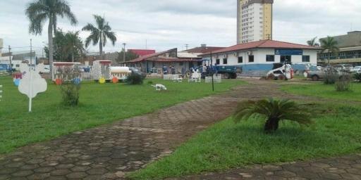 Prefeitura monta estrutura para celebrar a Páscoa 2018