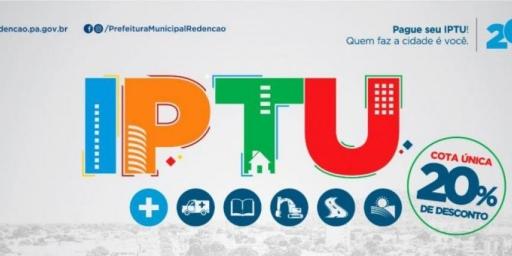 Prefeitura de Redenção prorroga desconto de 20% no IPTU