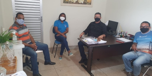 SECRETÁRIO REÚNE COM CONSELHO DE SAÚDE PARA DISCUTIR  AVANÇO DA CAMPANHA DE VACINAÇÃO DA COVID-19