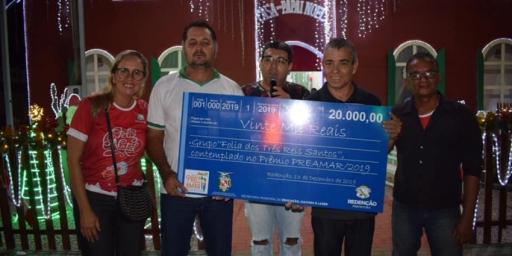 Grupo Folia dos Três Reis Santos, de Redenção, conquista 'Prêmio Preamar'