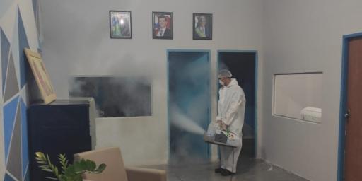 Secretaria Municipal de Educação passa por sanitização e desinfecção