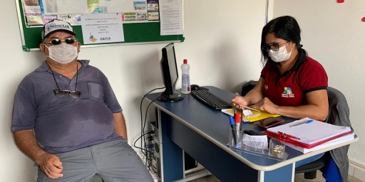 PTTS orienta moradores sobre auxílio emergencial no setor Primavera