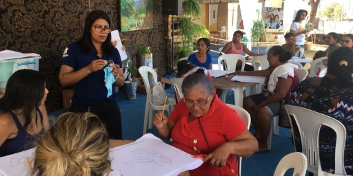 Intensa agenda no Stand da Secretaria de Assistência Social