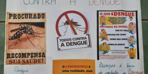 Alunos e professores realizam ação de combate à dengue