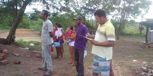 Ação da equipe volante do CRAS na comunidade Bom Sossego