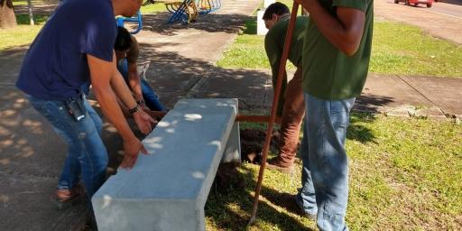 Canteiros centrais da Avenida Brasil são revitalizadas