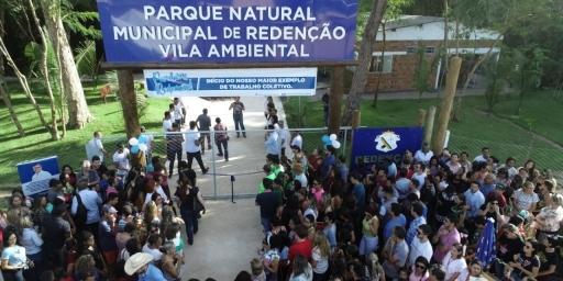 PREFEITURA DE REDENÇÃO INAUGURA PRIMEIRA ETAPA DO PARQUE NATURAL MUNICIPAL DE REDENÇÃO – VILA AMBIENTAL